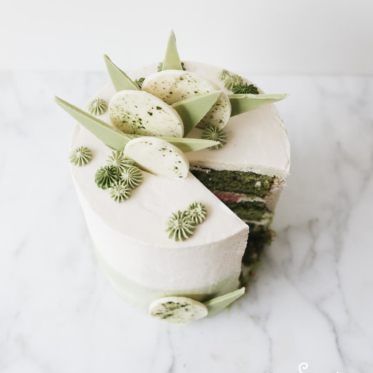 Tea bar green tea cake by Sugar and Sparrow