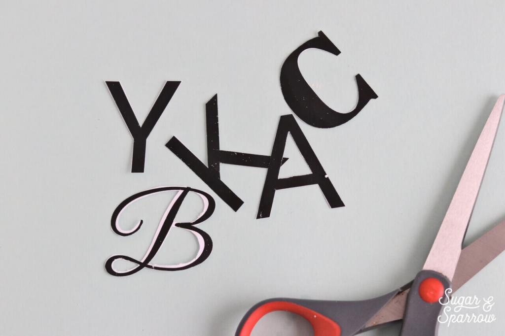 DIy gumpaste letter templates