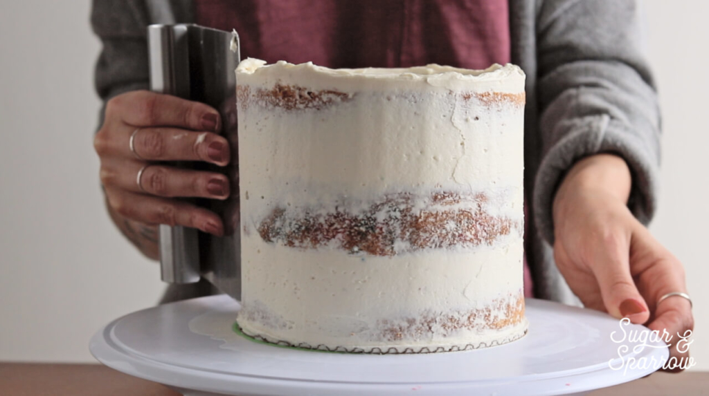 how to create a semi naked buttercream finish