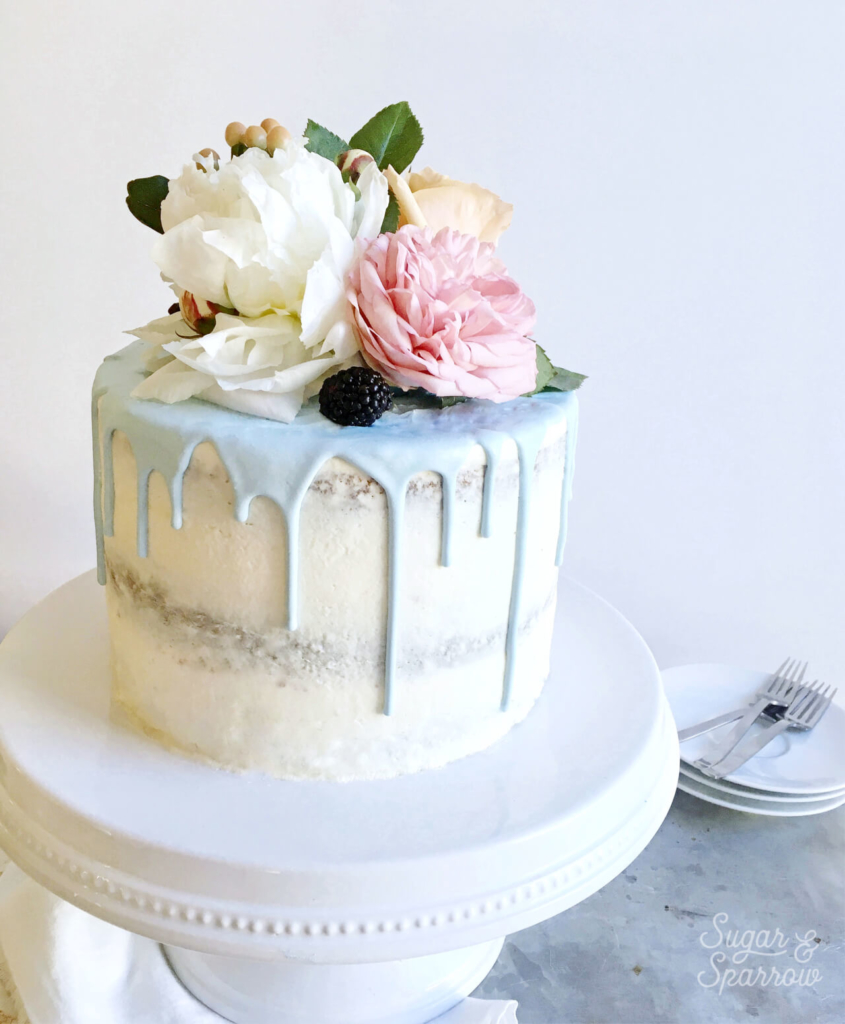 how to decorate a semi naked cake