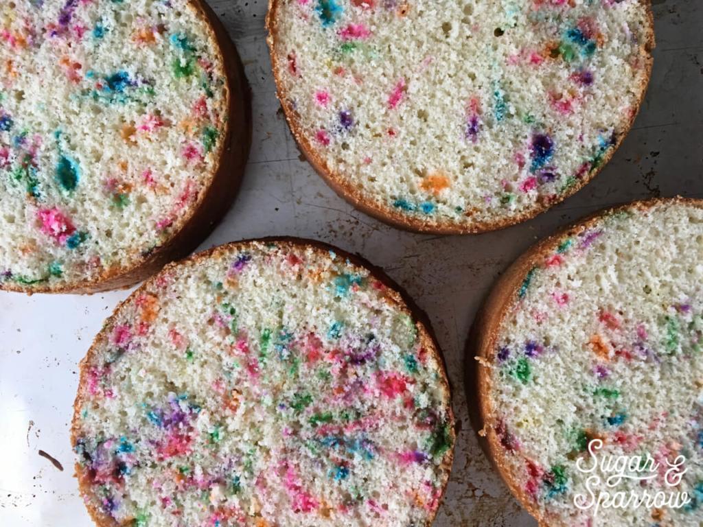 funfetti cake layers