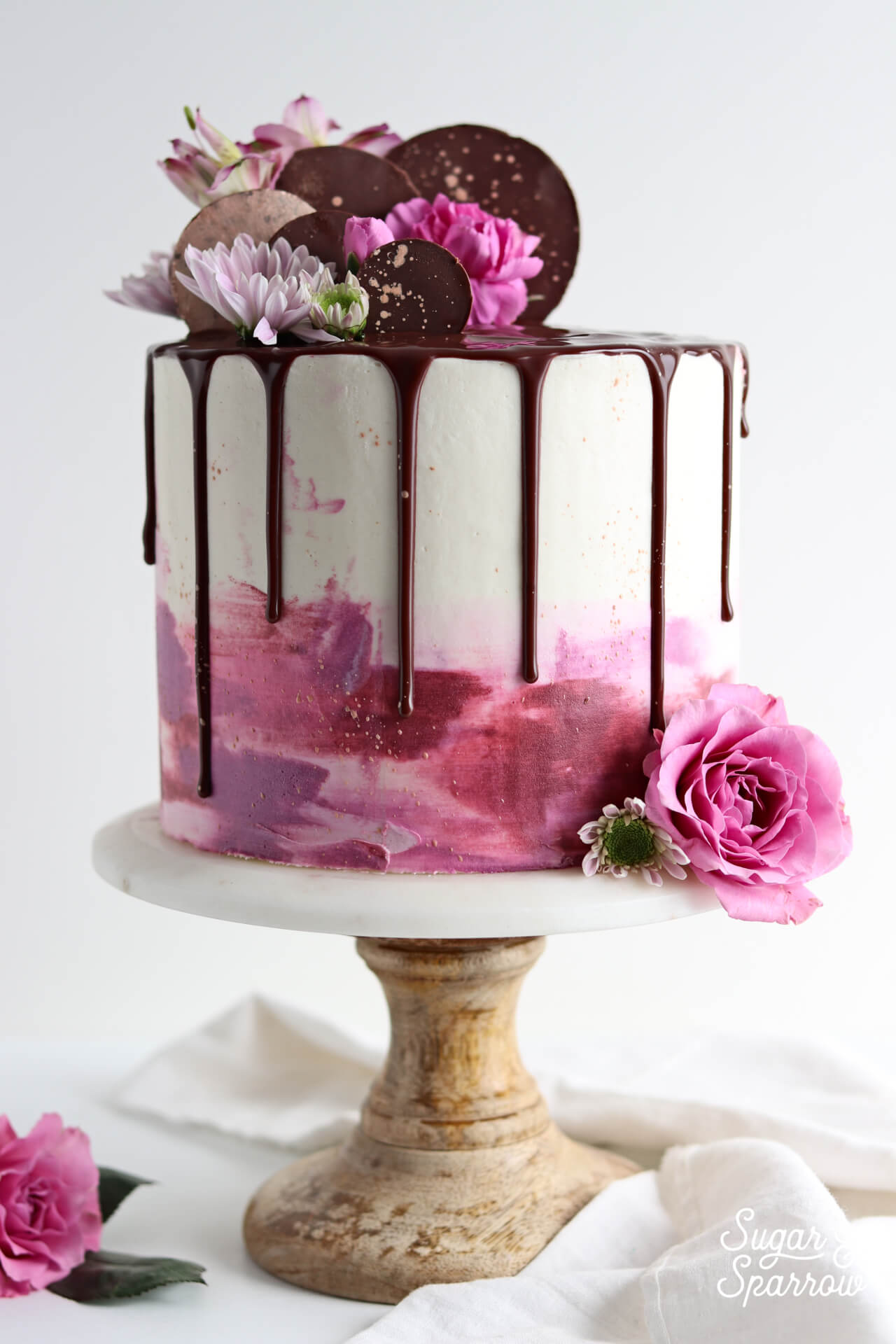 how to create watercolor buttercream finish