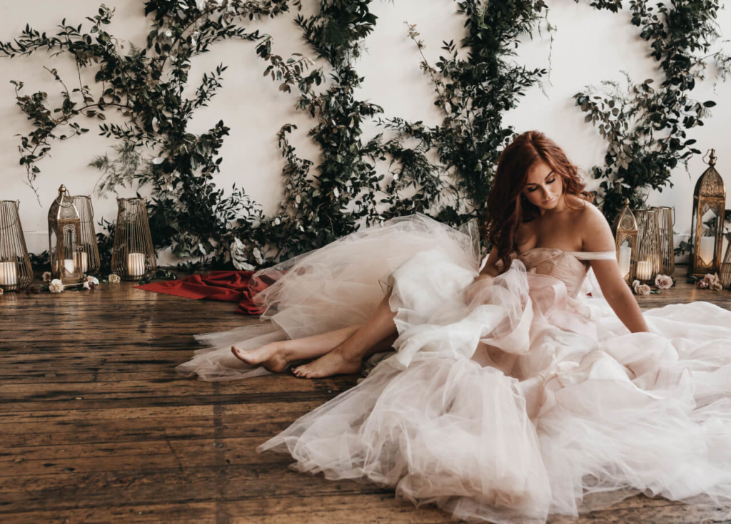 wedding dress by claire la faye
