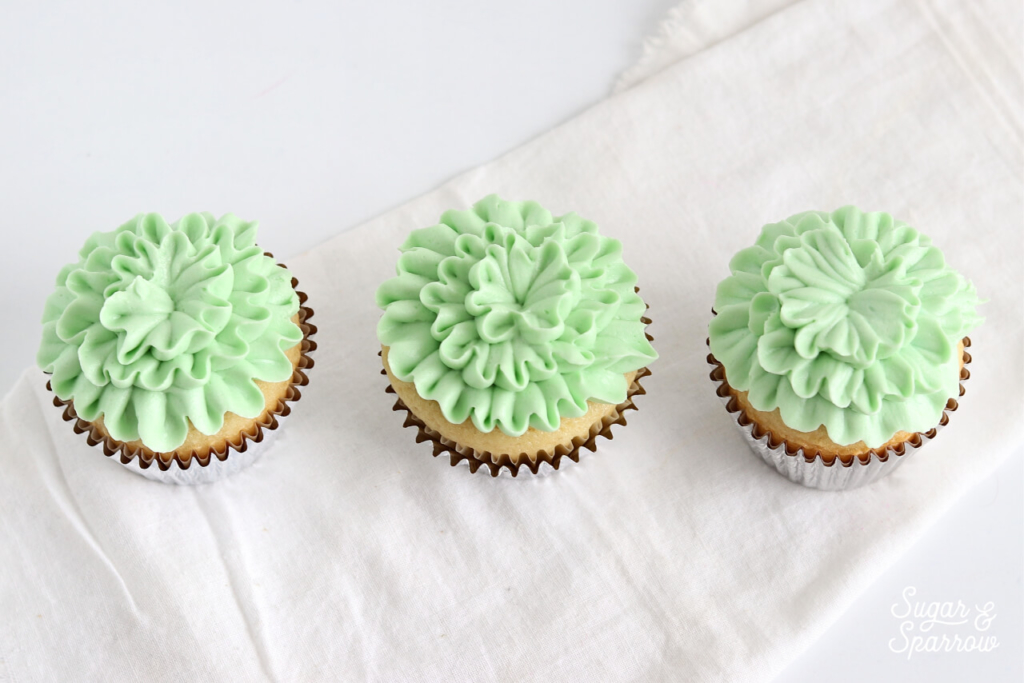 ruffle cupcakes by sugar and sparrow