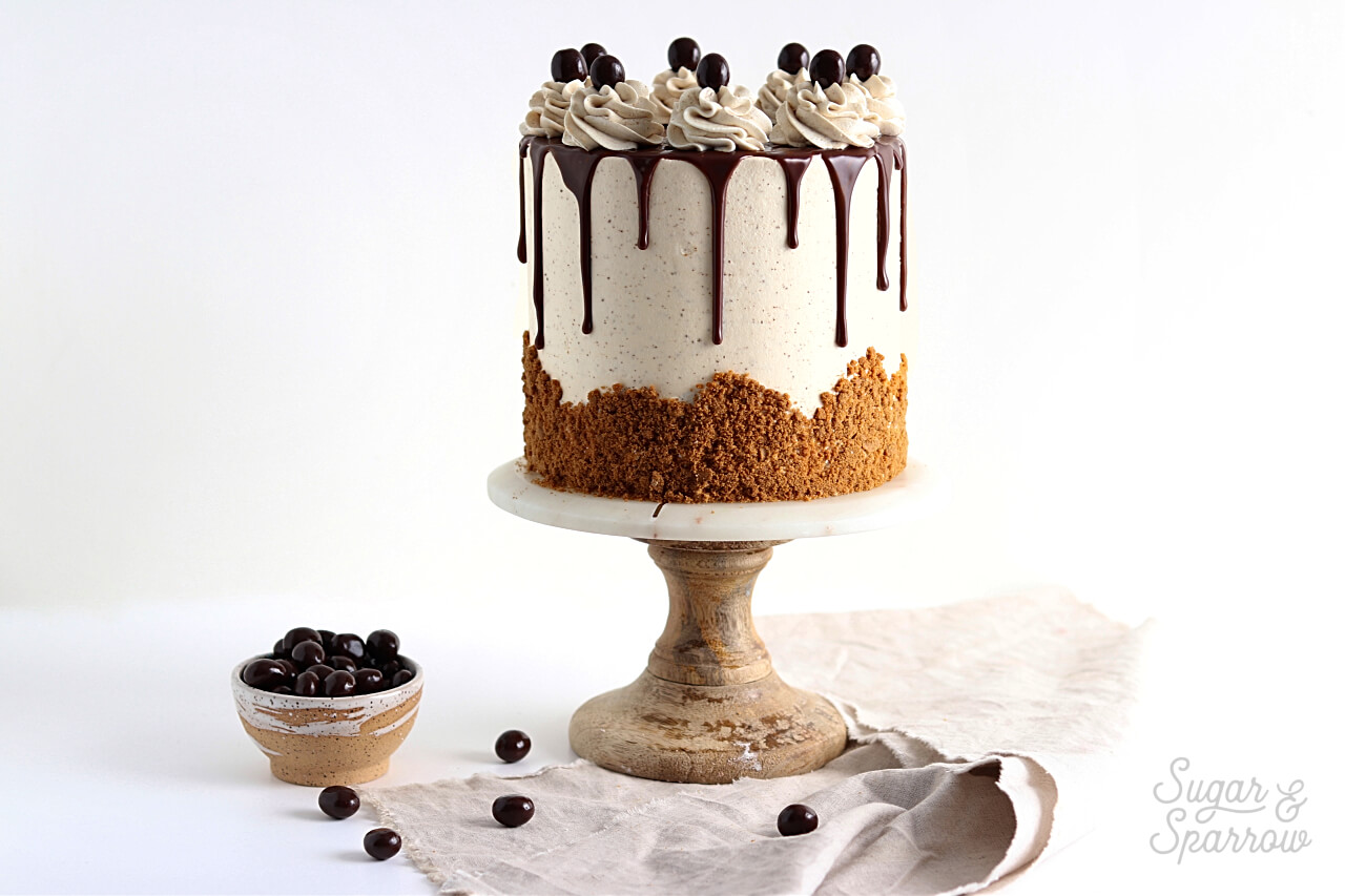 coffee layer cake recipe by sugar and sparrow