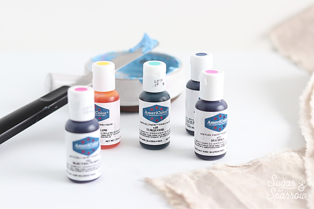 americolor gel pastes and buttercream