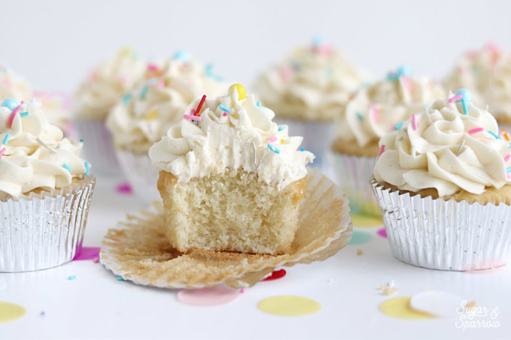 fluffy moist vanilla cupcake recipe