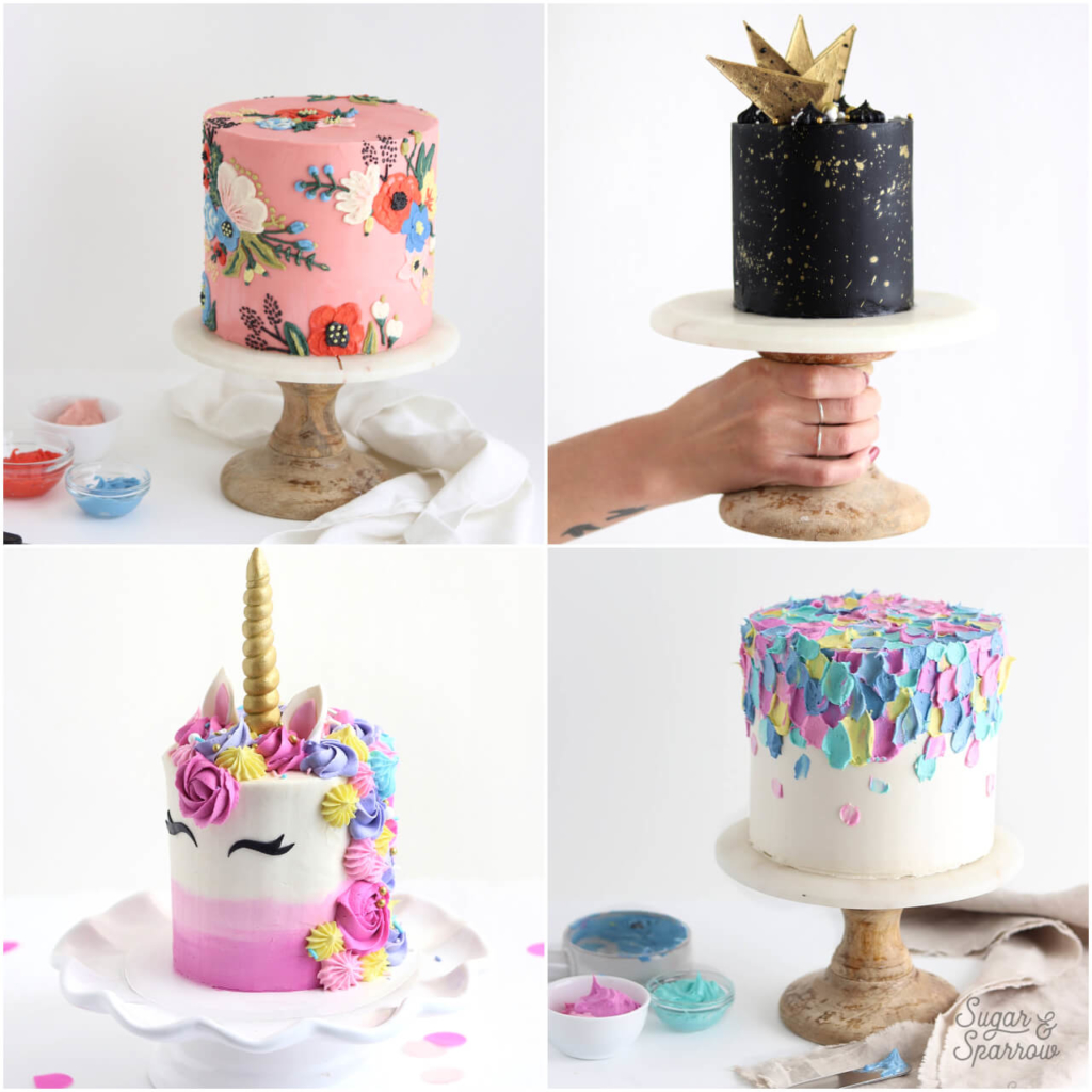 colorful cakes by sugar and sparrow