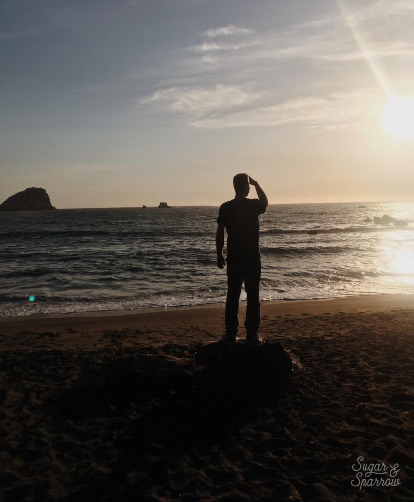 sunset in crescent beach california