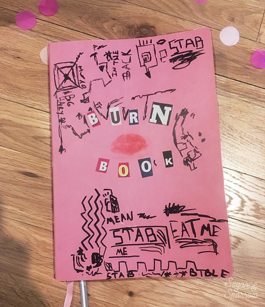 diy burn book mean girls party