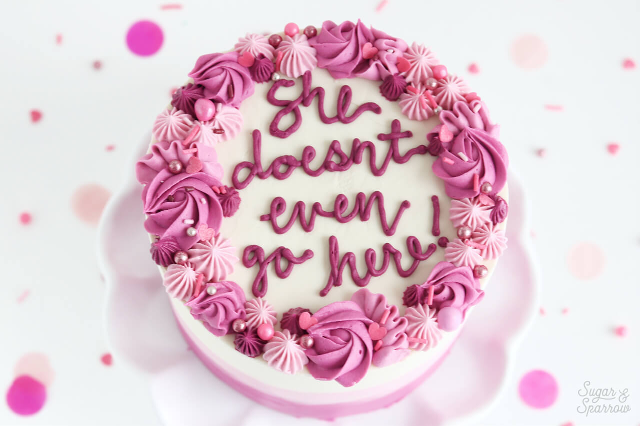 mean girls quote cake