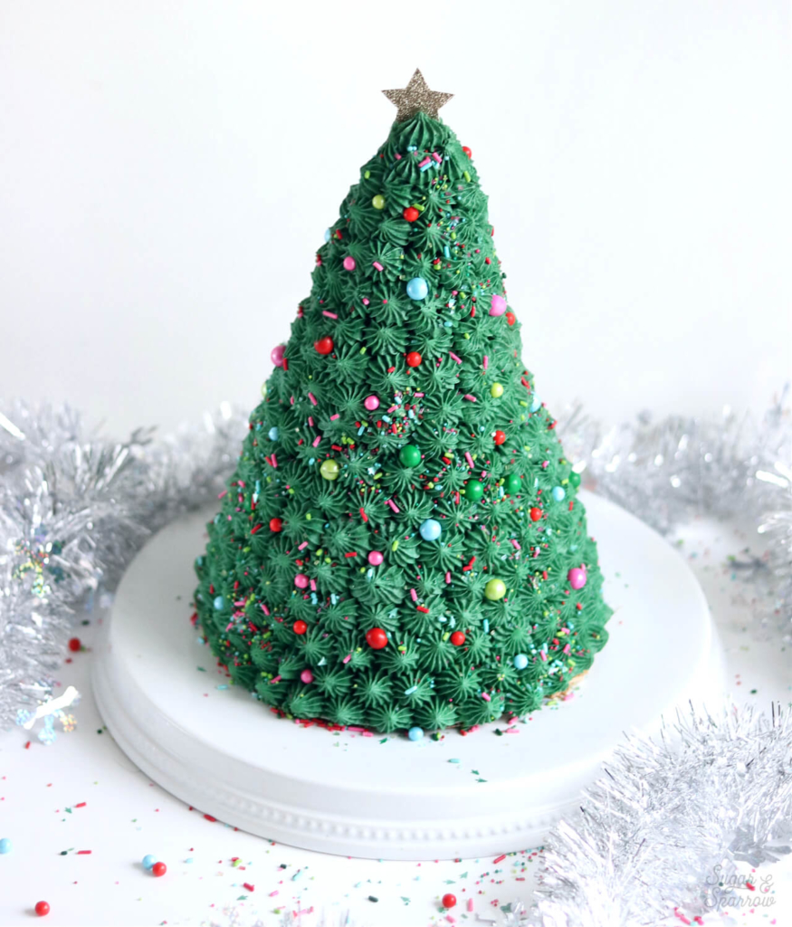 christmas cake by sugar and sparrow