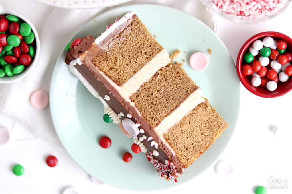 gingerbread cake with spiced vanilla buttercream
