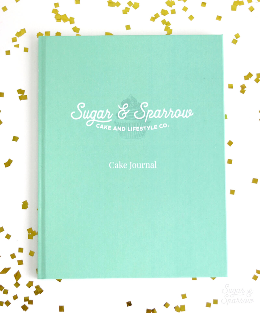 personalized cake decorating journal