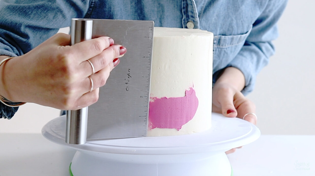 how to make a watercolor buttercream cake