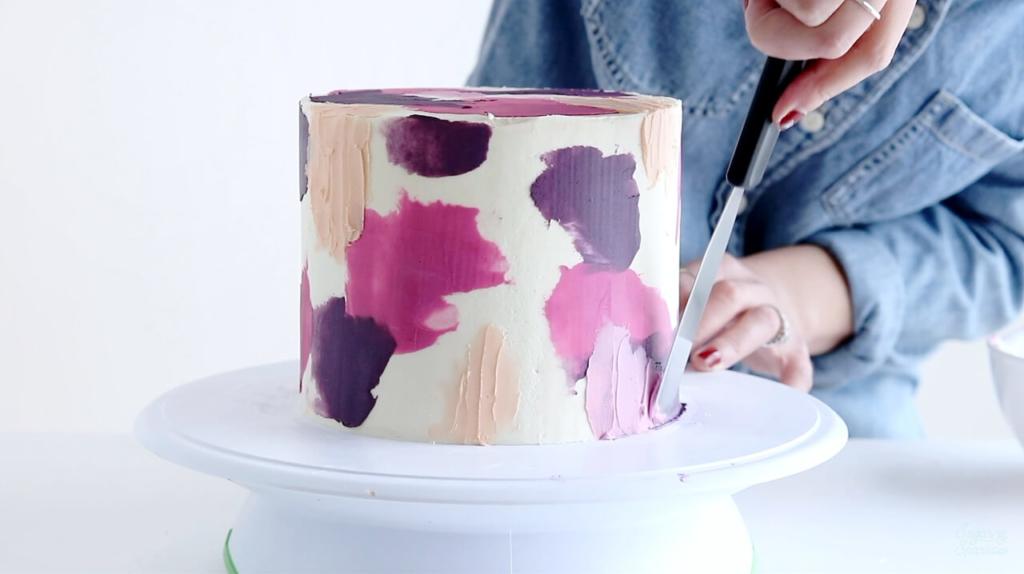 spatula painted buttercream tutorial