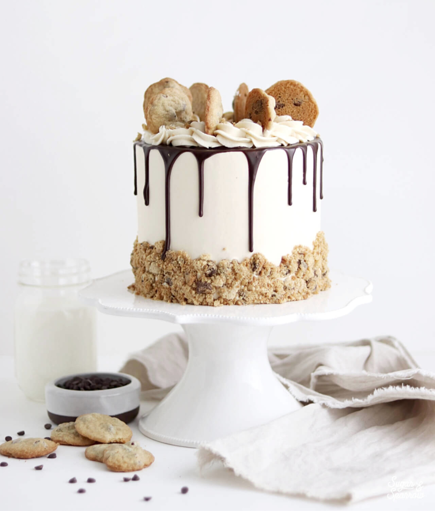 cookies and milk cake by sugar and sparrow