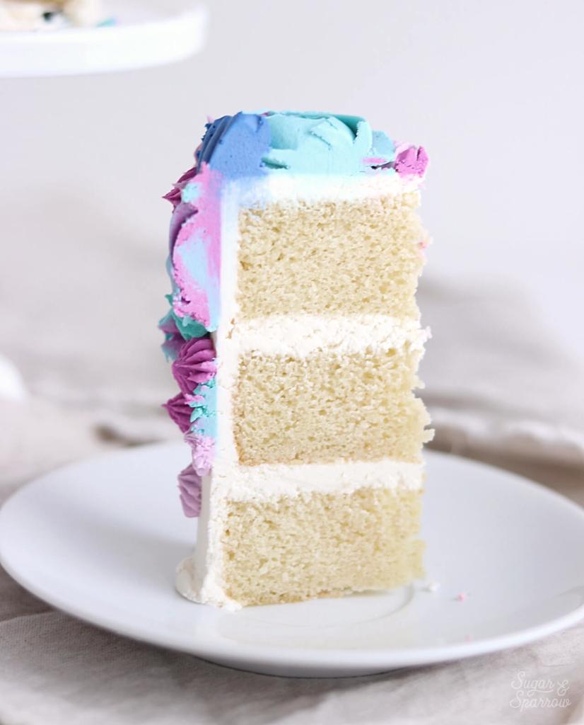 vanilla smash cake recipe by sugar and sparrow