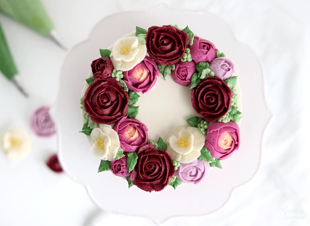 buttercream flower cake tutorial