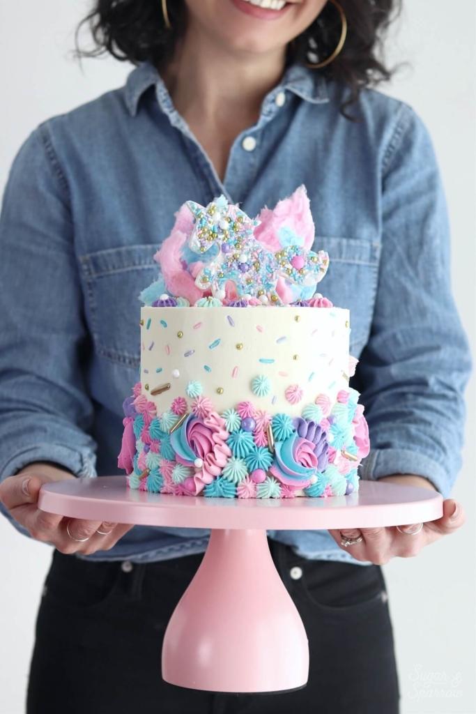 amalfi decor pink modern cake stand