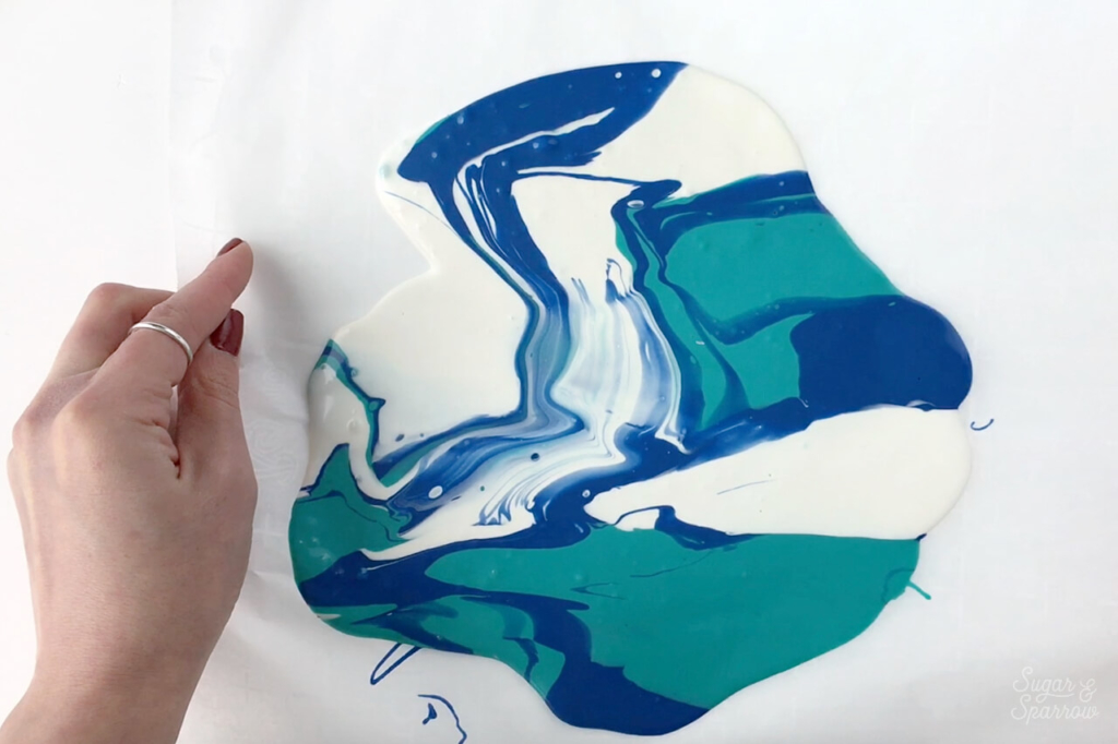 how to make marbled chocolate sail
