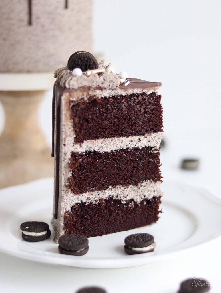 chocolate cake with Oreo buttercream
