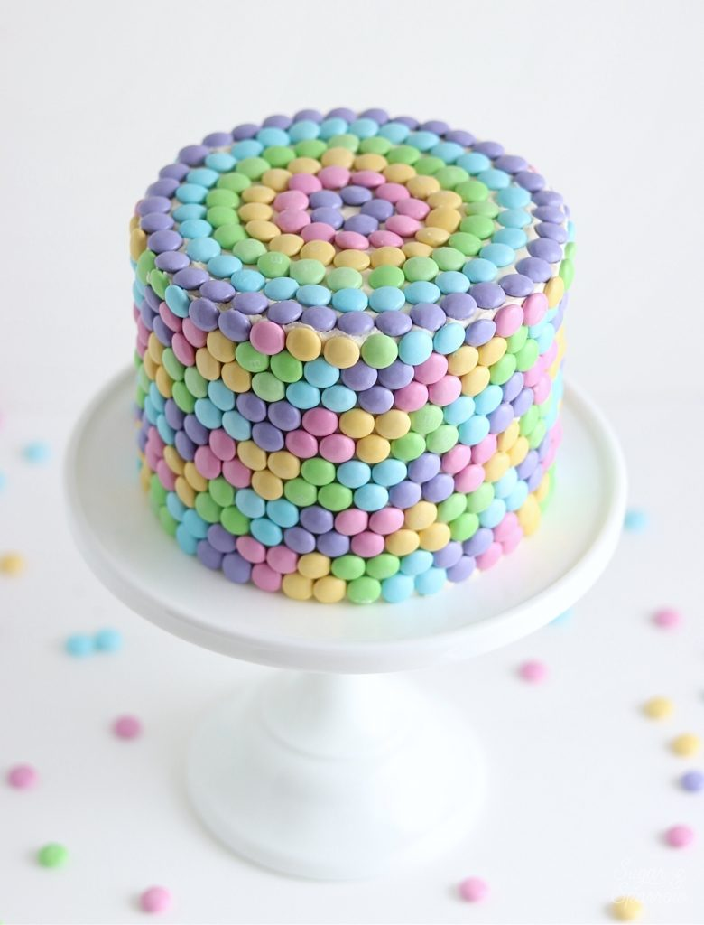 Cake with M&M's