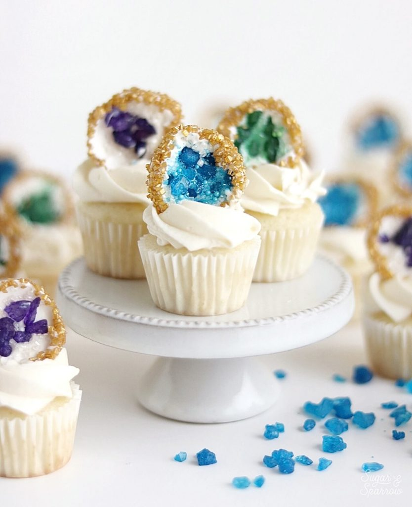 geode cupcakes by Sugar & Sparrow