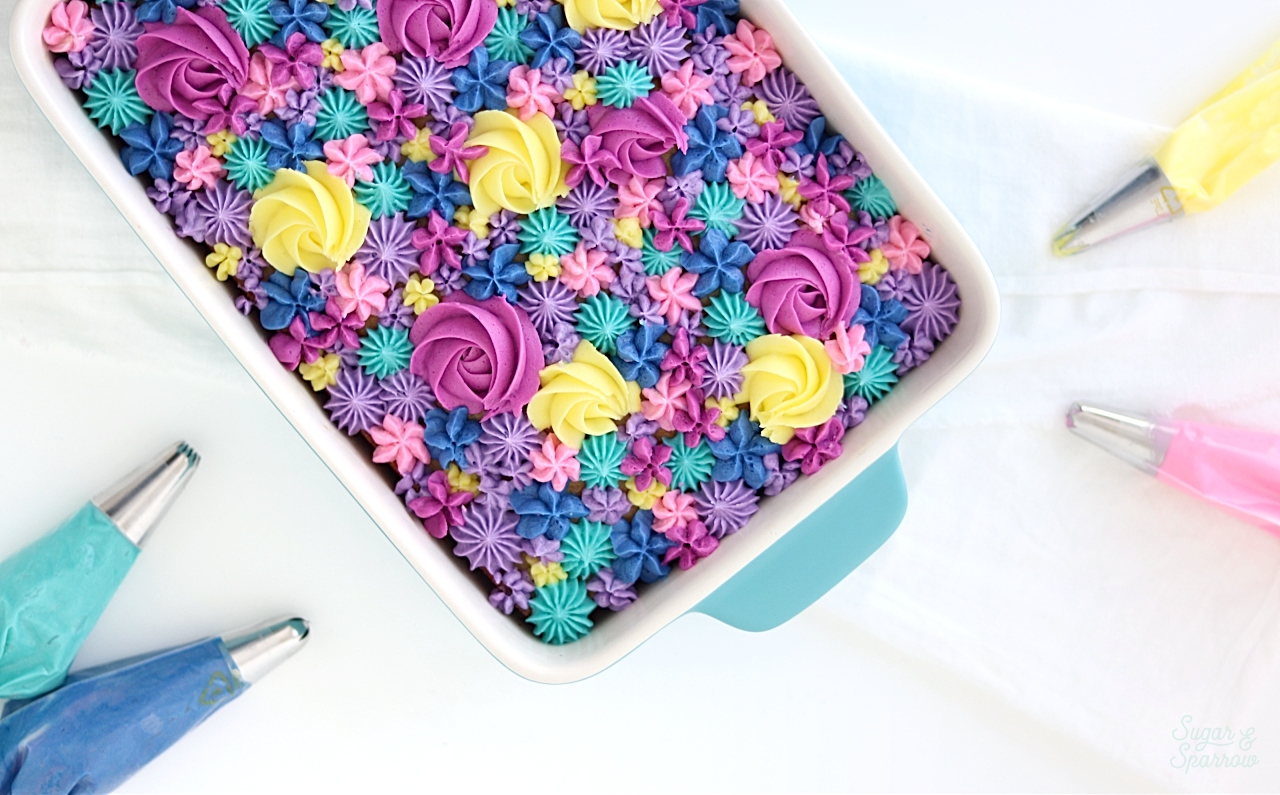 floral sheet cake tutorial