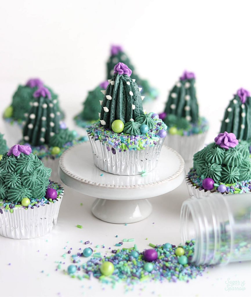 cactus cupcakes by Sugar and Sparrow
