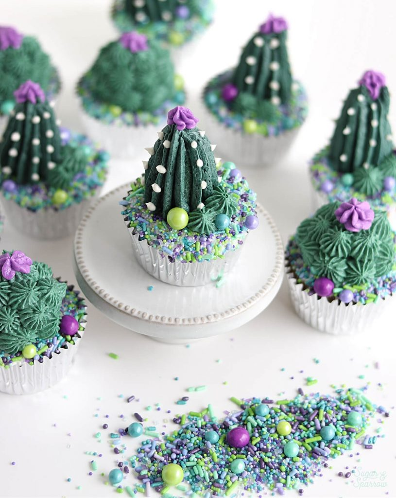 succulent cupcakes by sugar and sparrow