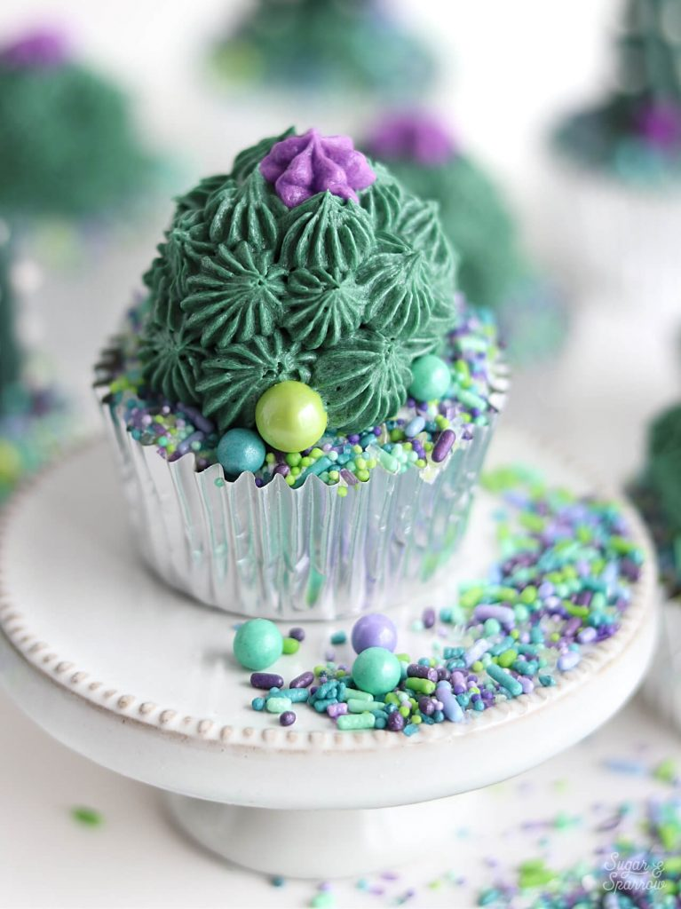 buttercream succulent cupcakes by Sugar and Sparrow