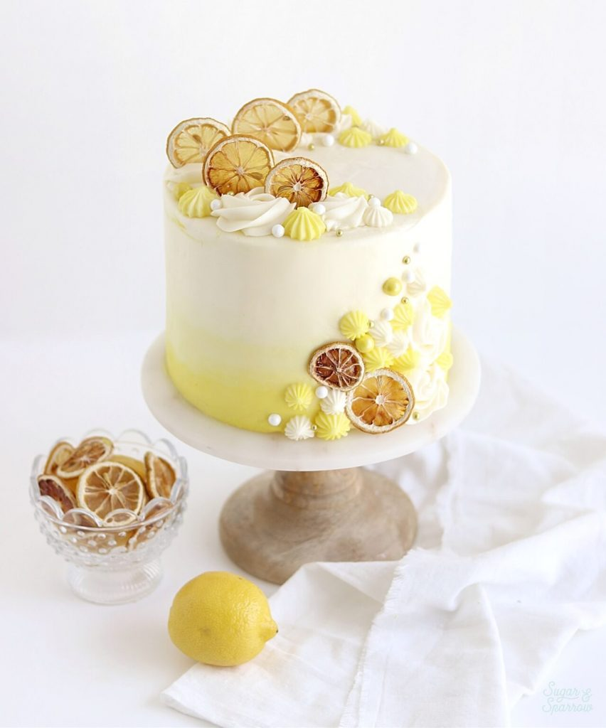 lemon layer cake with cream cheese buttercream