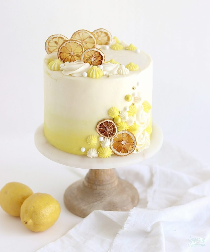 lemon cake by sugar and sparrow