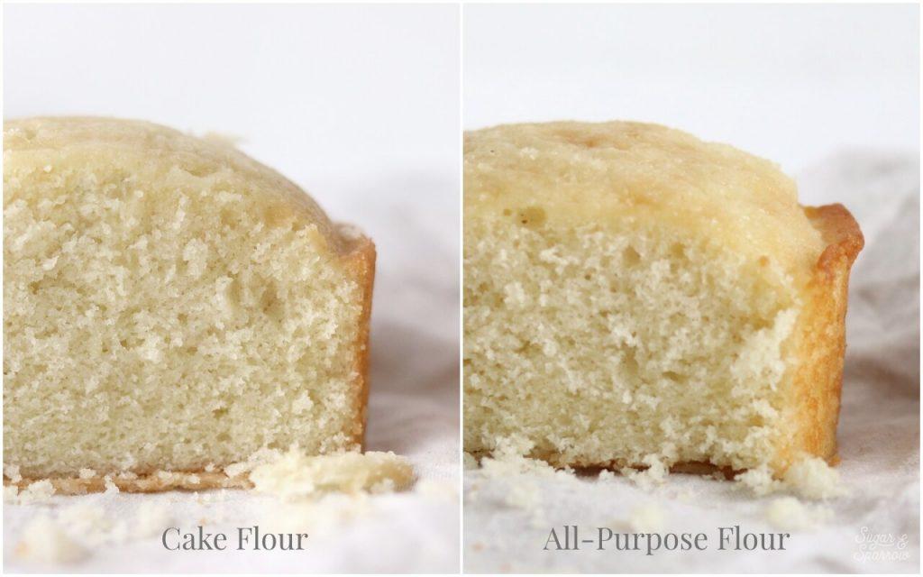 cake flour vs all purpose flour