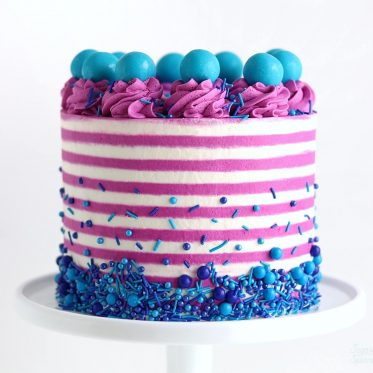 striped cake tutorial