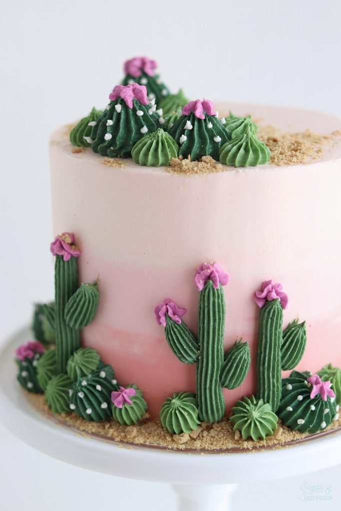 how to pipe buttercream cactus