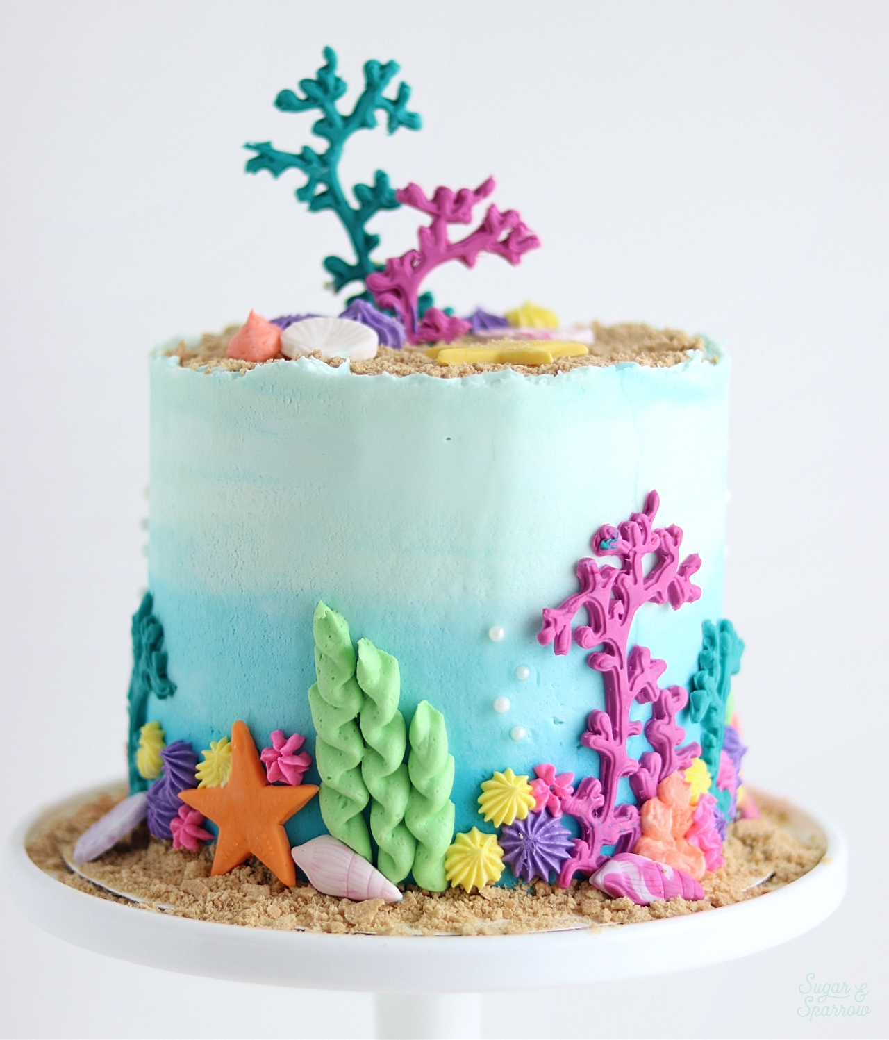 under the sea cake tutorial