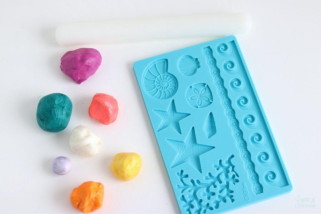 how to create gumpaste seashells