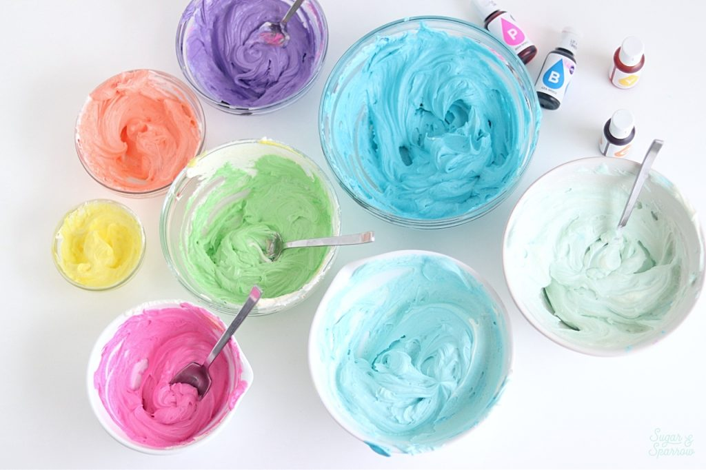 how to color buttercream