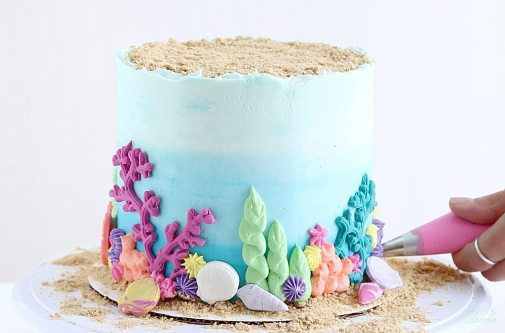 under the sea buttercream cake tutorial