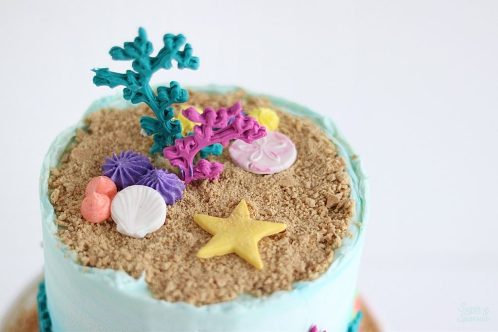 beach cake tutorial