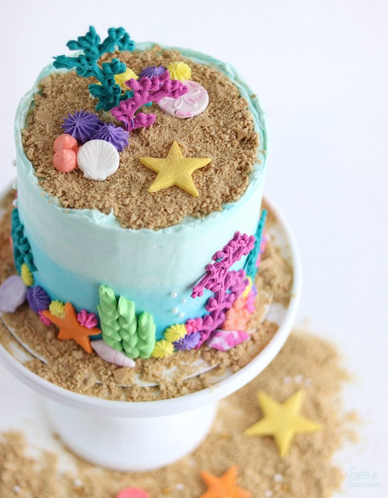 beach cake by sugar and sparrow