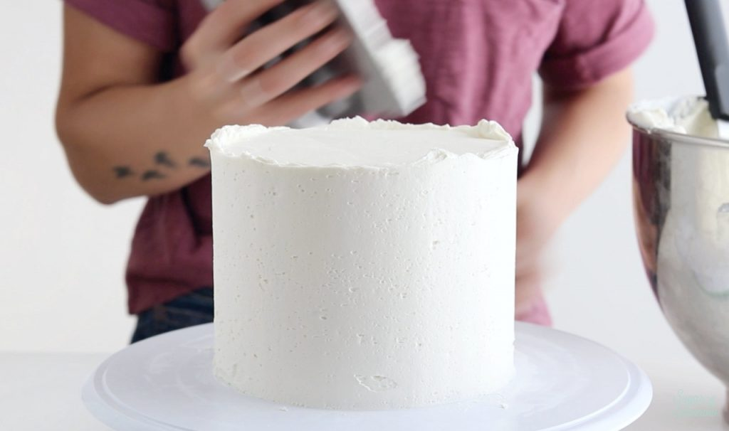 frosting smooth buttercream sides