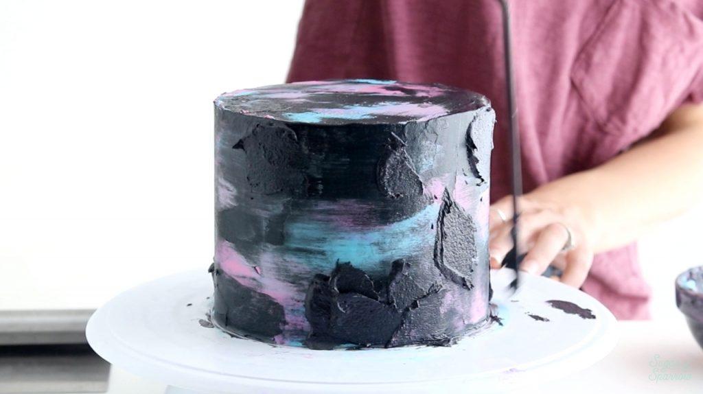 how to make a buttercream galaxy cake