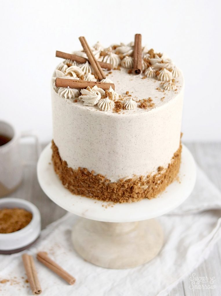 spiced vanilla chai layer cake recipe