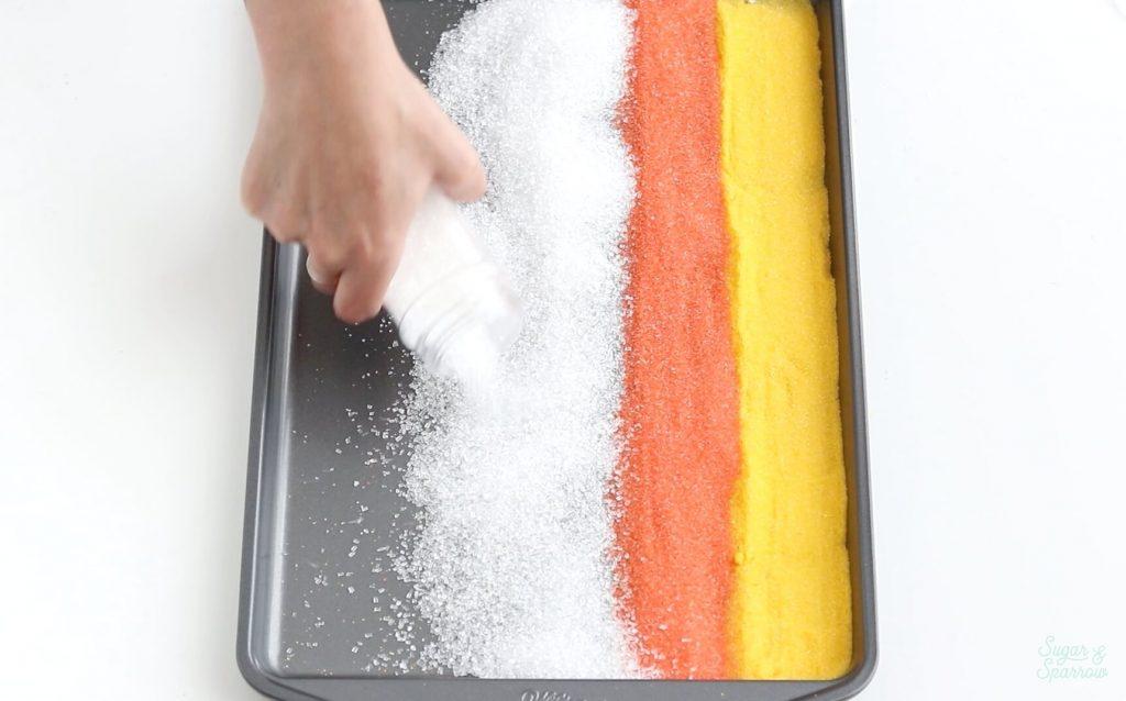 sugar sprinkle ombre cake tutorial