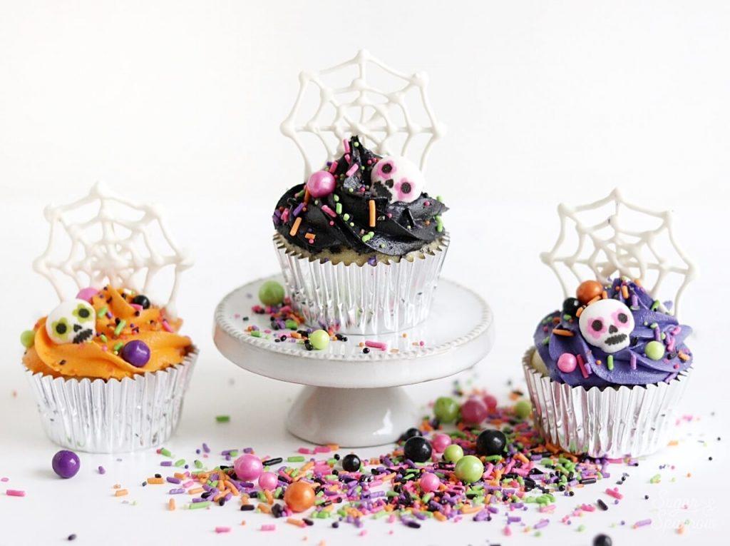 Dia De Los Muertos cupcakes by Sugar and Sparrow