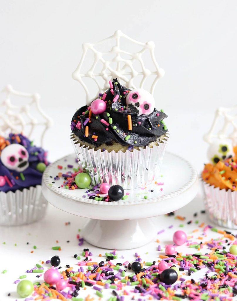Dia De Los Muertos cupcakes tutorial