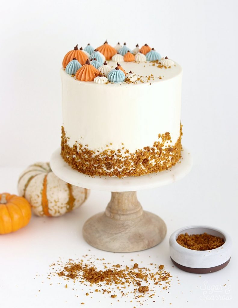 pumpkin cake recipe by sugar and sparrow